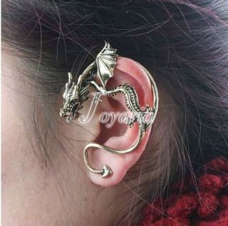 Punk Dragon Vintage Back Earrings Ear Cuff Studs Animals FJ7