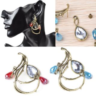 Jewelry Lots Rhinestone Crystal Earrings Ear Cuff Studs Bulk