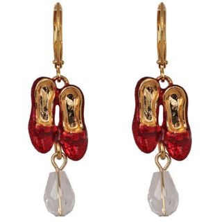 New Kirks Folly Wizard of oz Dorothys Ruby Slippers w Bead Earrings