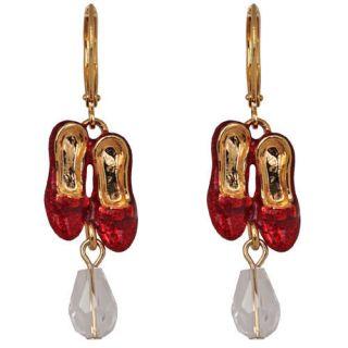 New Kirks Folly Wizard of oz Dorothys Ruby Slippers w Bead Earrings