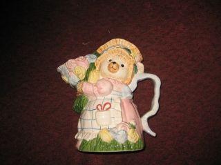 1995 Fitz Floyd Omnibus Mommy Bear Gardener Pitcher