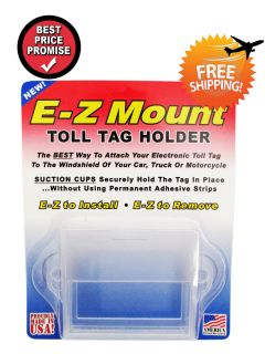 EZ Pass Toll Tag Holder Clear E Z Mount Free SHIP Out