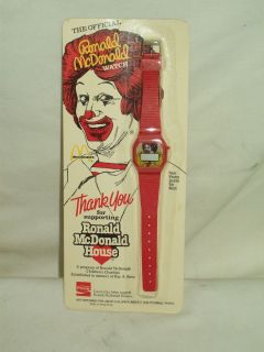Ronald McDonald Official Watch 1984 Coca Cola Licensed Product Brand
