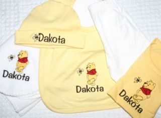 Personalized Baby Gift Blanket Hat Bib outfit set