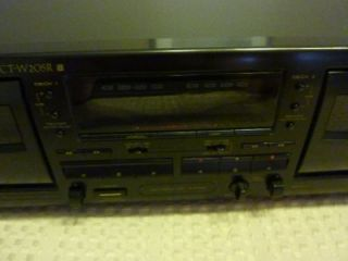 Pioneer Ct W205R Stereo Dual Cassette Tape Deck Recorder