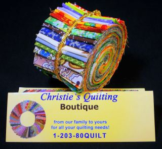 Eclectic Sampler Jelly Roll Quilting Fabric Strips Quilt