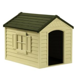 Durable Resin All Weather Large Outdoor Pet Dog House