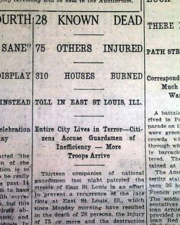 East St. Louis RACE RIOTS Negroes Lynch MOBS Kill Many Negroes 1917