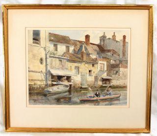 Listed New York Artist John Durkin Detailed Watercolor