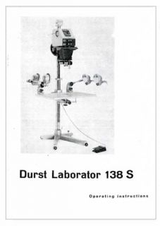 durst laborator 138 s enlarger instruction manual reprint photocopy
