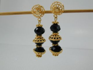 Elegant Dubai East India Set 24K 22K Gold GP Thai Necklace Earrings