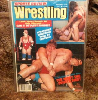 Review Wrestling Magazine Nov 1978 Dusty Rhodes Womens Apartment Girls