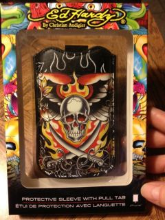 Ed Hardy Leather iPhone 3G/3GS Protective Sleeve Case, Skull Flames