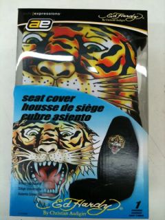 Ed Hardy 2pc Car Front Seat Covers Set Tiger