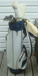 Vintage Dunlop Jan Stephenson Jan Style 501 Golf Clubs Putter Bag Mint