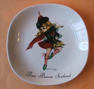 Brownie Downing Frae Bonnie Scotland Dancing Girl 5 Plate