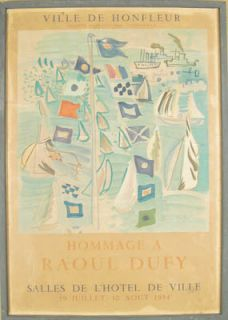Raoul Dufy Original Vintage Poster Fauvist France 1950s