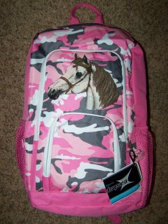 Girls Horse Backpack Eastsport Pink Camo Horses Pony Back to School