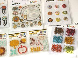 Scrapbook Bundle Fall Autumn Basic Grey Pyrus 6x6 Paper Prima Stamps $