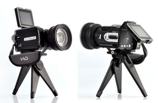 Digital Camera with Optical Telescope Zoom and Wide angle Lens