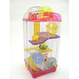 Dwarf Hamster Rodent Mouse Mice Critter Play House Cage H3030 Pink