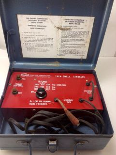 Classic Sun Electric Tach Dwell Meter Metal Box Collectible TDS600 No
