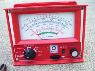 DELCO GM ignition tach Tester dwell meter gauge Automobile accessory
