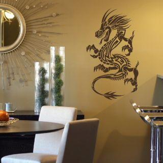 Chinese Dragon Big Wall Art Decal Sticker Transfer Giant Stencil Vinyl