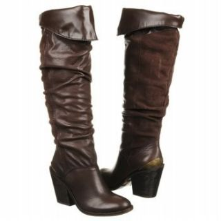Lucky Brand EDINA Brown Knee High Leather Boots 7 M Womens New