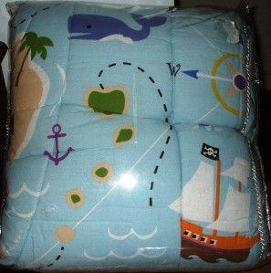 New Olive Kids Boys Pirates Full Comforter Sharks Ships
