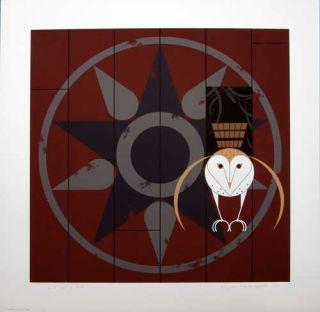 /Charley Harper   Hexit   Hand Signed   Ltd Ed #122   Owl Art   RARE