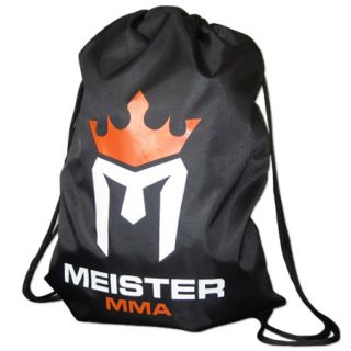 Meister MMA Drawstring Backpack Cinch Sack Duffel Bag Gym Tote Sports