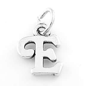 Sterling Silver 925 Fancy Letter E Charm Pendant