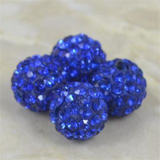10mm Crystal Clay Pave Disco Charm Bead Friendship Shamballa Bracelet