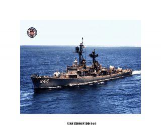USS Edson DD 946 US Naval Destroyer USN Navy SHIP Print