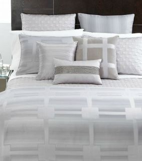 Hotel Collection Meridian Quartz (Silver) Full/Queen Duvet Cover