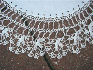 Three Vintage Doilies Table Runner Dresser Scarf Tape & Needle Lace