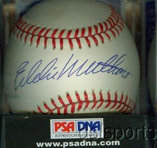 Eddie Mathews Signed Autographed NL Baseball PSA DNA 8