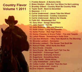 Promo DVD Disc Country Music Video Hits Country Flavor Volume 1 A