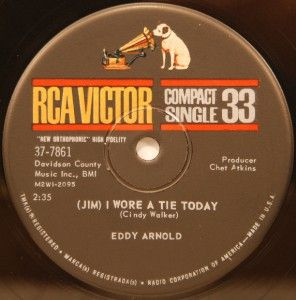 Eddy Arnold Jim I Wore A Tie Today / Lonesome Compact 33 M RCA 37 7861