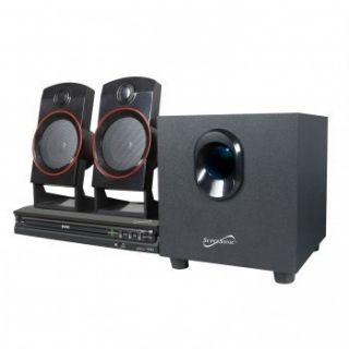 Supersonic 2 1CH CD DVD MP3 Player Home Theater Surround Sound System