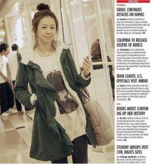 Korean Women Thick Fleece Hooded Lace Coat Parka Winter Warm Long