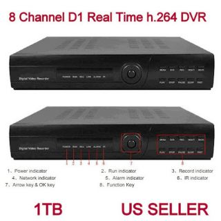 8CH Channel Standalone Stand Alone CCTV DVR w 1TB HDD