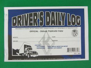 JJ Keller 602L Triplicate Drivers Daily Log Book with Carbon