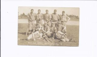 IL Red Bud Baseball Team RPPC 1910 Matt B Red Paul Meyer St Louis MO