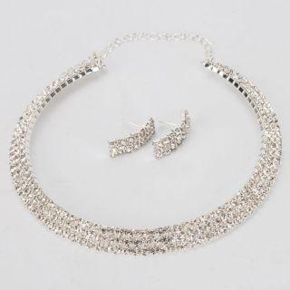 Rows Rhinestone Necklace Choker Earring Set_4_600x600 (600×600