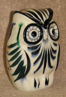 Vintage Mexican Folk Art Handpainted Talavera Owl Pottery Artist