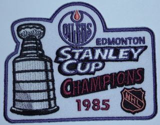 EDMONTON OILERS 1985 STANLEY CUP CHAMPIONS PATCH WAYNE GRETZKY NHL