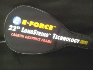 Force Tri Carbon Titanium 22 Racquetball Racquet TAUNT +Case
