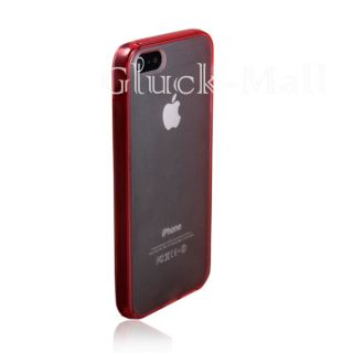 Red Ultra Thin Clear Crystal Snap on New Hard Case Cover for Apple